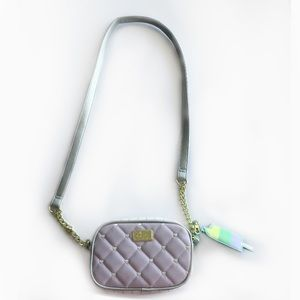 Lavender Lilac Quilted Betsey Johnson Pastel Purse